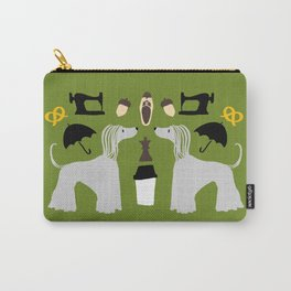 Hound dog, umbrella, sewing machine and chess Carry-All Pouch