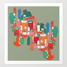 body interaction Art Print