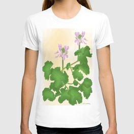 pelargonium capitatum-rose scented leaf T-shirt
