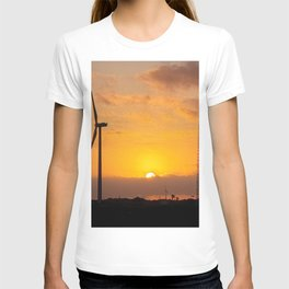 Sunrise on the jeju island sea in Korea. T-shirt