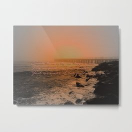 when the sea seems to vanish in the haze Metal Print