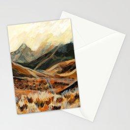 Golden Mountain Landscape Stationery Cards