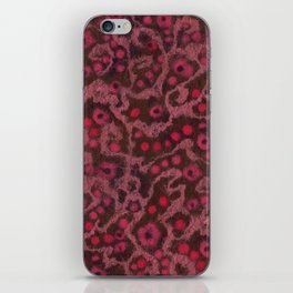 Pink Flowers, Blush Curves, fiber art iPhone Skin