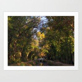 TREE VIGNETTE Art Print