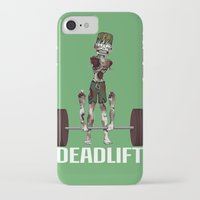 crossfit iPhone & iPod Cases featuring Crossfit Zombie by RonkyTonk doing Deadlift by RonkyTonk