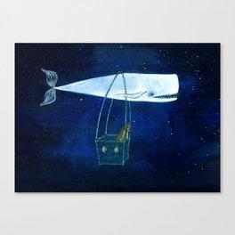 Flying the ocean Canvas Print