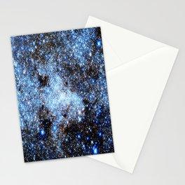 Blue gAlaxY Sparkle Stars Stationery Cards