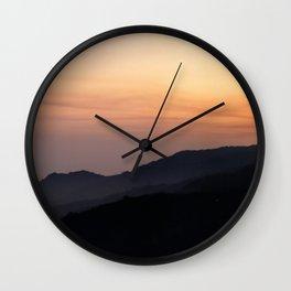 Hillside Sunset Wall Clock