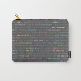 Colored Web Design Keywords Carry-All Pouch