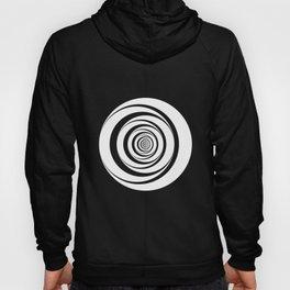 Black White Circles Optical Illusion Hoody