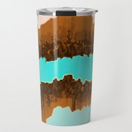 Native American Turquoise & Copper River Travel Mug