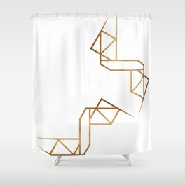 industrial golden glitters Shower Curtain