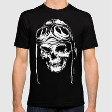 102 Black LARGE Mens Fitted Tee