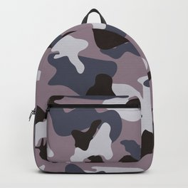 Gray army camo camouflage pattern Backpack