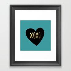 XOXO Heart Framed Art Print