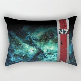 N7 Battle Damaged Armor Rectangular Pillow