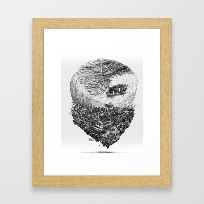 Tempete 1 Framed Art Print