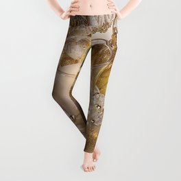 Golden christmas ball Leggings