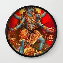 bhairav-attributes-kali Wall Clock
