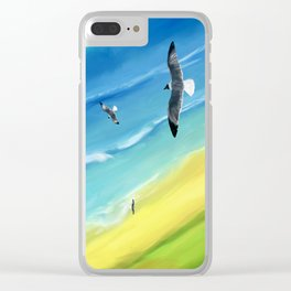 Birds view above sea. Clear iPhone Case