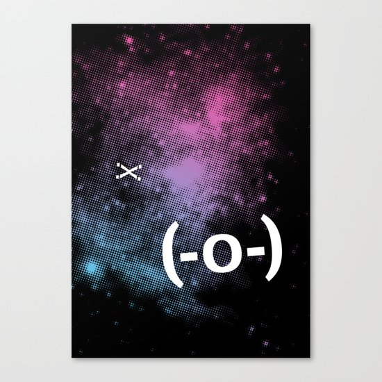 Typospacechase Canvas Print