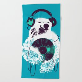 Record Bear Beach Towel