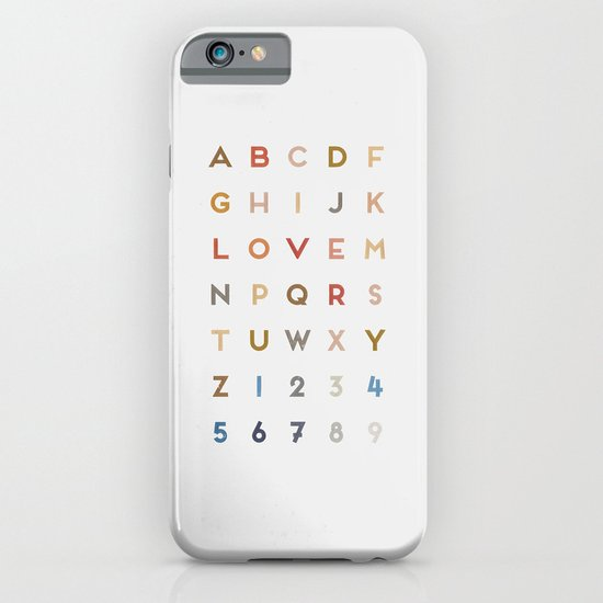 Letter Love - Color iPhone & iPod Case