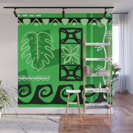 Hawaiian Pattern #1 - green! Wall Mural