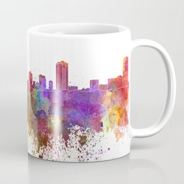 St Petersburg skyline in watercolor background Coffee Mug