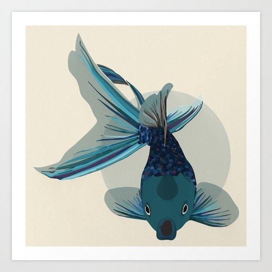 Not So Golden Fish Art Print