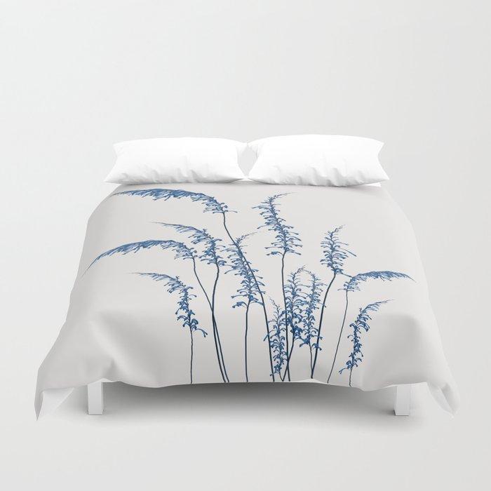 Blue flowers 2 Duvet Cover