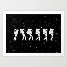 Astronaut Love Moonwalk Art Print