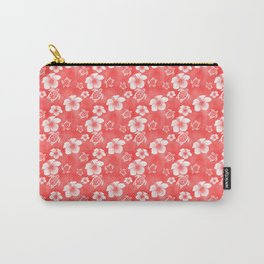 Red Hibiscus Honu Hawaiian Pattern Carry-All Pouch