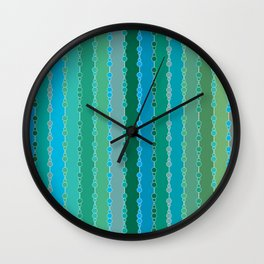 Multi-faceted decorative lines 5 Wall Clock