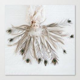 Peacock girl Canvas Print