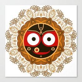 Jagannath. Indian God of the Universe. Lord Jagannatha. Canvas Print