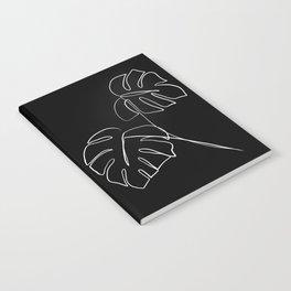 Monstera minimal - black Notebook