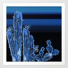 Painted Desert Blue Art Print