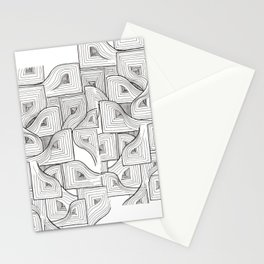 Abstract Linework - Life is a Maze Stationery Cards