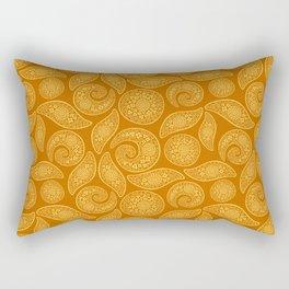 Oriental gold Rectangular Pillow
