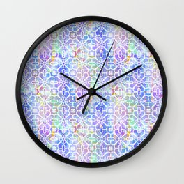 Watercolor Grid Pattern Wall Clock