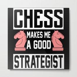 Chess strategist Metal Print
