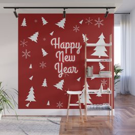 New Year, Christmas, winter holidays illustration New Year, Christmas, winter holidays illustration Wall Mural