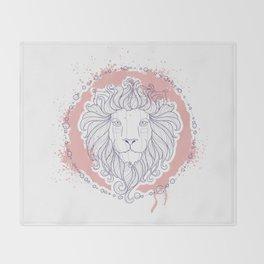Zodiac sign - Leo Throw Blanket