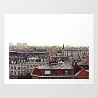 brussels Art Prints featuring Brussels by Anastasiia Prysiazhniuk