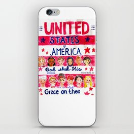 United States of America: God Shed His Grace on Thee iPhone Skin