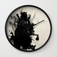 viking Wall Clocks featuring Viking by Nicklas Gustafsson