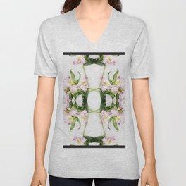 Geometric floral Unisex V-Neck