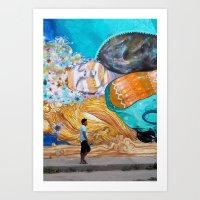 Street Art in Tulum, Mexico Art Print