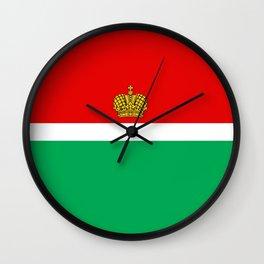 flag of Kaluga Wall Clock